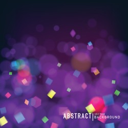 Abstract blurred background with bokeh effect. Wallpaper for celebrate or party invitation  design. Vector