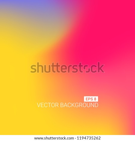 Abstract blurred gradient mesh background. Colorful smooth banner template. Easy editable soft colored vector illustration in EPS8. New abstract modern screen vector image pattern picture