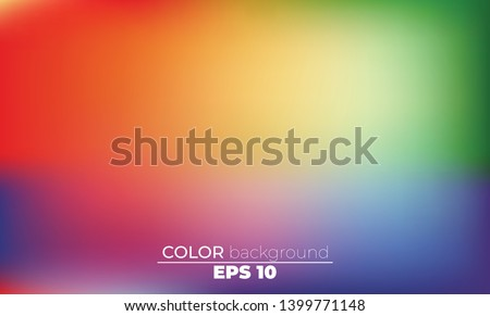 Abstract blurred gradient mesh background in bright Colorful smooth. Easy editable soft colored vector illustration, Suitable For Wallpaper, Banner, Background, Card, Book Illustration,