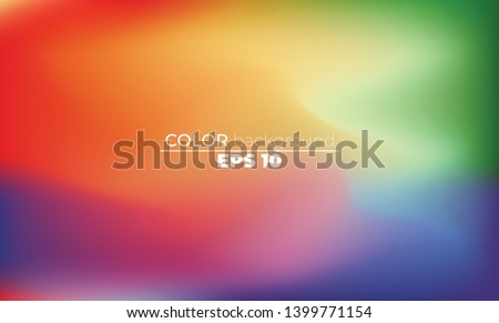 Abstract blurred gradient mesh background in bright Colorful smooth. Easy editable soft colored vector illustration, Suitable For Wallpaper, Banner, Background, Card, Book Illustration, #1399771154
