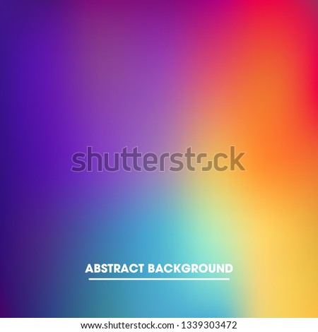 Abstract blurred gradient mesh background in bright rainbow colors.