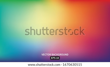Abstract blurred gradient mesh background in bright rainbow colors