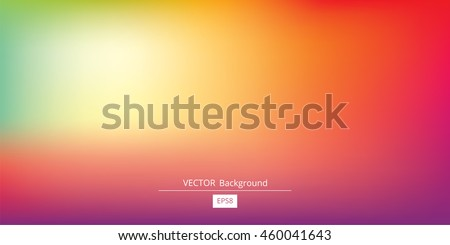 Abstract blurred gradient mesh background in bright rainbow colors. Colorful smooth banner template. Easy editable soft colored vector illustration in EPS8 without transparency. #460041643