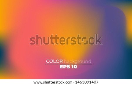 Abstract blurred gradient mesh background in bright summer colors. Colorful smooth. Easy editable soft colored vector illustration, Suitable For Wallpaper, Banner, Background, Card, Book Illustration,