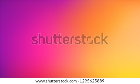 Abstract Blurred magenta purple yellow orange magenta purple background. Soft gradient backdrop with place for text. Vector illustration for your graphic design, banner, poster - Vector