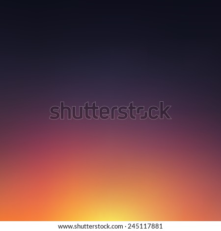 Abstract blurred sunset background. Vector