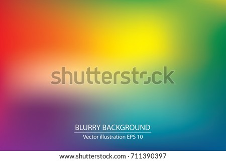 Shutterstock abstract blurry gradient mesh background in bright rainbow colors, colorful smooth template, editable and layered
