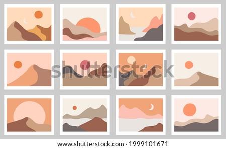 abstract boho landscapes
