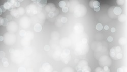 Abstract Bokeh Circle Light Background For Christmas And New Year. Vector