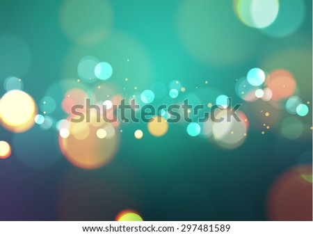 abstract bokeh light vintage