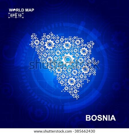 abstract bosnia gear map