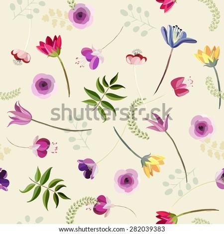 abstract botanical seamless