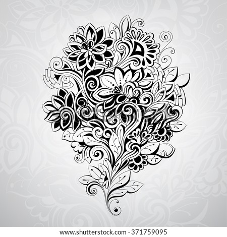 abstract bouquet in the ornament