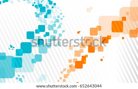 Abstract Boxes background vector design