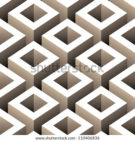 abstract boxes 3D seamless pattern background