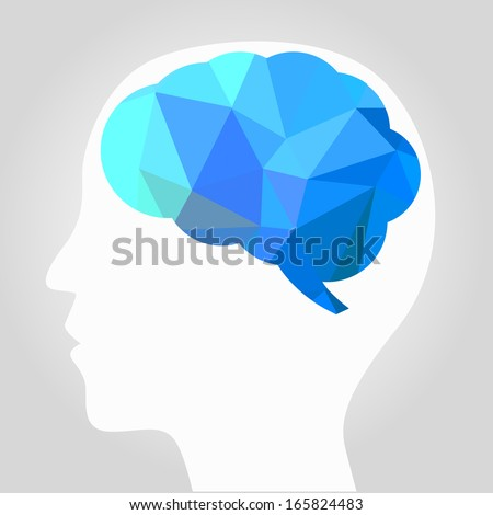 abstract brain vector