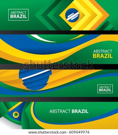 abstract brazil flag  brazilian