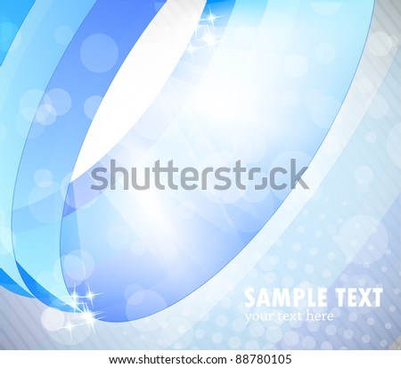 Abstract bright background in blue color