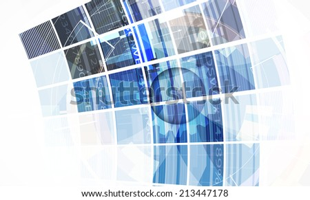 abstract bright blue cube