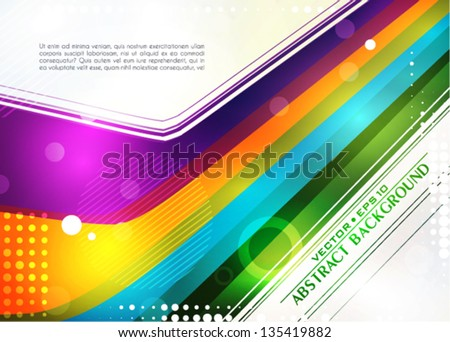 Abstract bright color background  in retro style. Vector