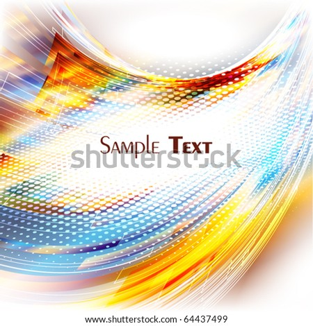 Abstract bright colorful card. Vector