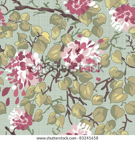 Abstract Bright floral seamless pattern. Beautiful flower vector illustration texture