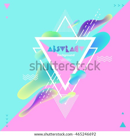 abstract bright geometric