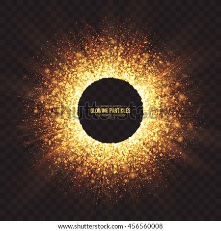 abstract bright golden shimmer