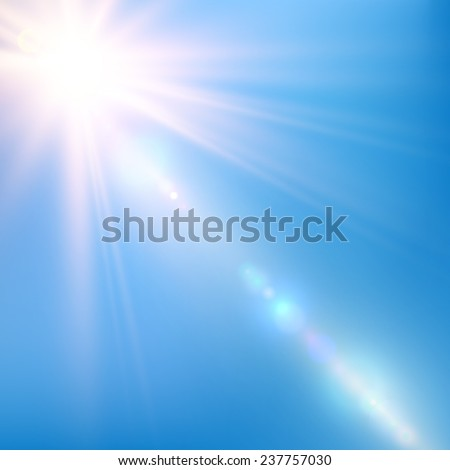 abstract bright shining sun