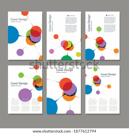 Abstract bright simple technology brochure template. Connection structure Сток-фото ©