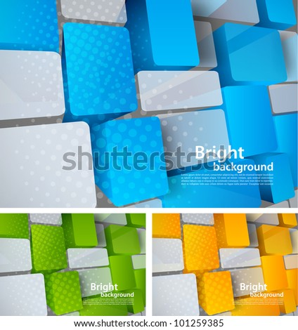 Abstract bright tech background with 3d element