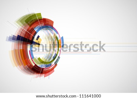 abstract bright technology