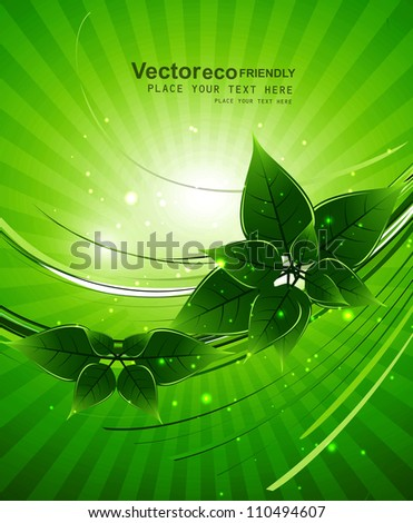 abstract bright Vector natural eco green lives design