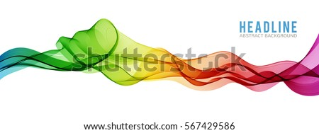 abstract bright wave isolated
