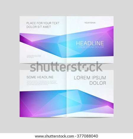Abstract brochure design, bifold template vector eps 10