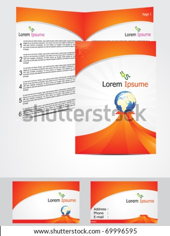 abstract brochure design concept vector illustration