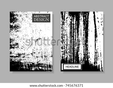 Abstract brochure design.Flyer design in grunge style.