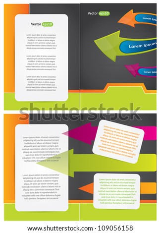 Abstract brochure design with arrows and place for your text