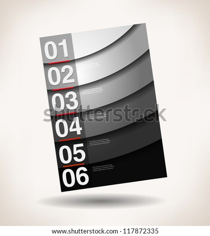 abstract brochure, number line, can be used for website, info-graphics, number banner