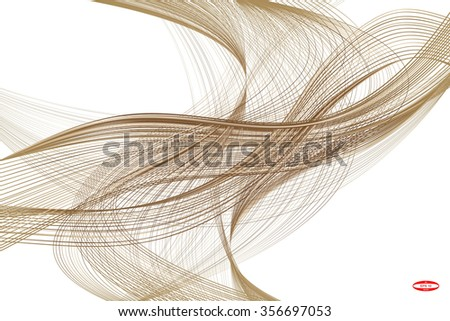 stock-vector-abstract-bronze-line-with-ginger-wave-with-brown-band-isolated-on-white-background-vector