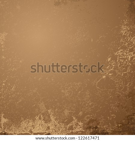 Abstract brown grunge background - Vector illustration. Aged vintage background