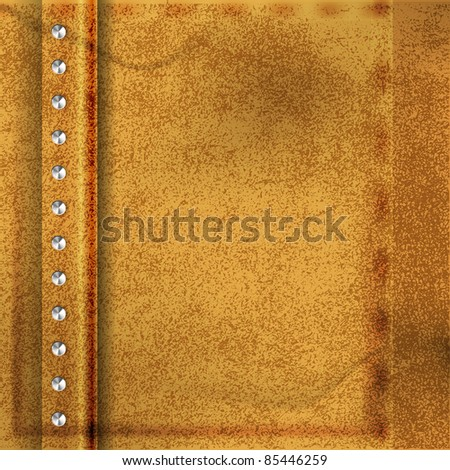 Abstract Brown Leather Background