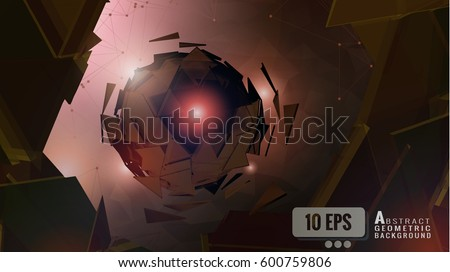 abstract brown polygonal