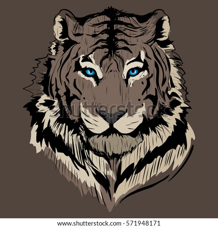 abstract brown tiger background
