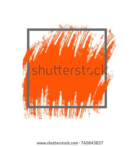 abstract brush sroke orange