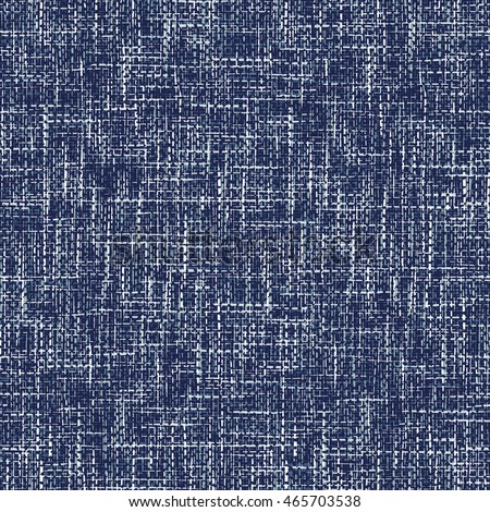 Abstract brushed chambray fabric textured background. Seamless pattern.