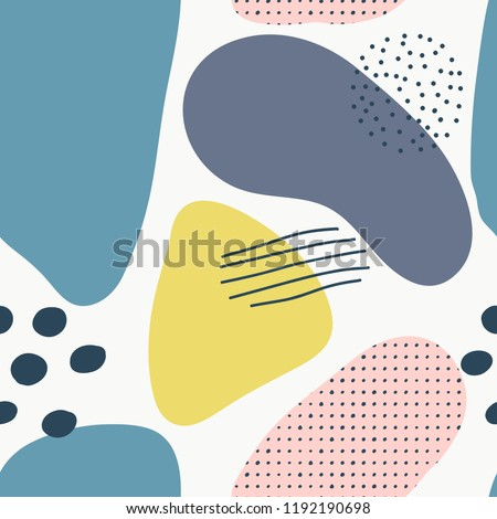 Abstract brushstroke background, colorful patter. Seamless pattern with brush strokes in fresh pastel colors.