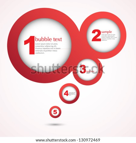 Abstract bubble design vector illustration