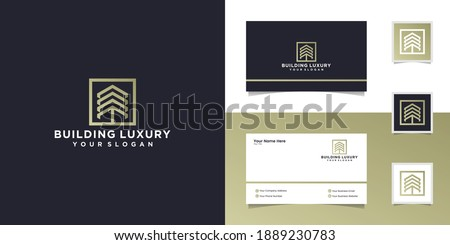 abstract building logo with