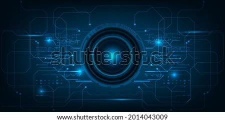 abstract bule portal futuristic
